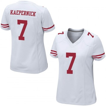 Women's Nike San Francisco 49ers Colin Kaepernick White Jersey - Game