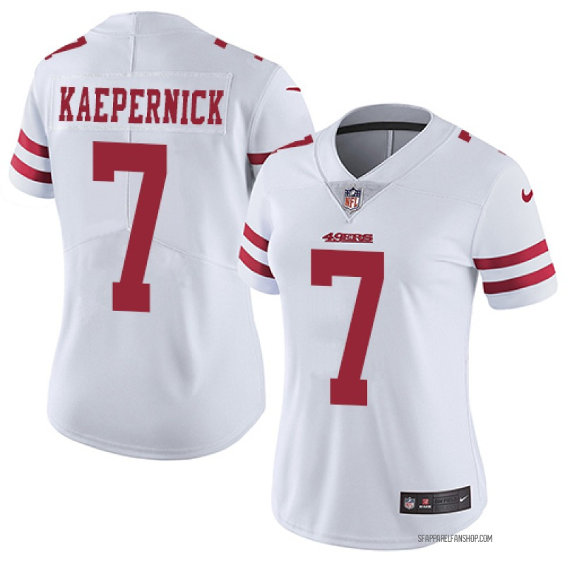 check out aa11b 540d3 Women's Nike San Francisco 49ers Colin Kaepernick White Jersey - Limited