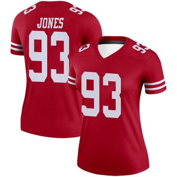 Women's Nike San Francisco 49ers D.J. Jones Scarlet Jersey - Legend