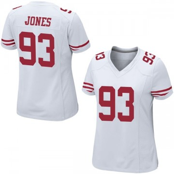 Women's Nike San Francisco 49ers D.J. Jones White Jersey - Game