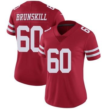 Women's Nike San Francisco 49ers Daniel Brunskill Red Team Color Vapor Untouchable Jersey - Limited