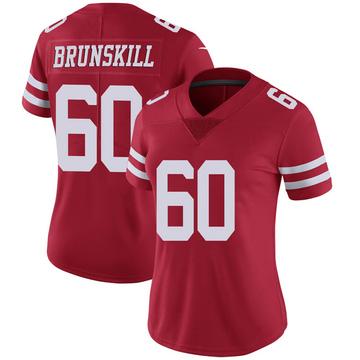 Women's Nike San Francisco 49ers Daniel Brunskill Scarlet 100th Vapor Jersey - Limited