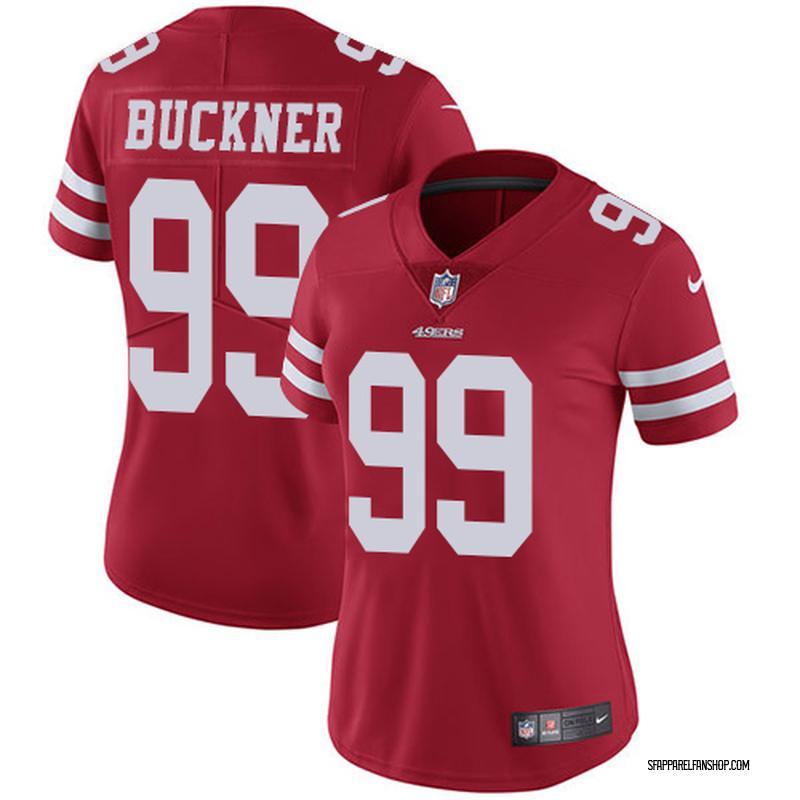 on sale 231f1 28375 Women's Nike San Francisco 49ers DeForest Buckner Red Team Color Jersey -  Limited