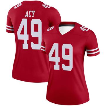 Women's Nike San Francisco 49ers DeMarkus Acy Scarlet Jersey - Legend