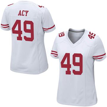Women's Nike San Francisco 49ers DeMarkus Acy White Jersey - Game