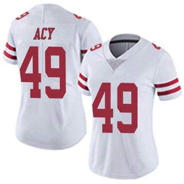 Women's Nike San Francisco 49ers DeMarkus Acy White Vapor Untouchable Jersey - Limited