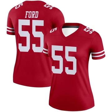 Women's Nike San Francisco 49ers Dee Ford Scarlet Jersey - Legend