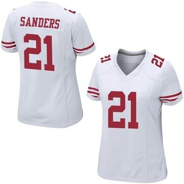 Women's Nike San Francisco 49ers Deion Sanders White Jersey - Game