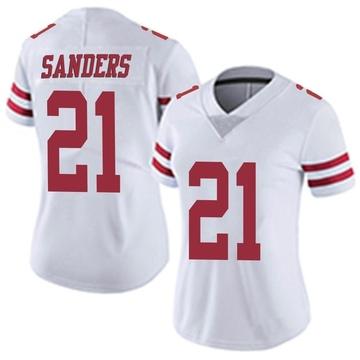 Women's Nike San Francisco 49ers Deion Sanders White Vapor Untouchable Jersey - Limited