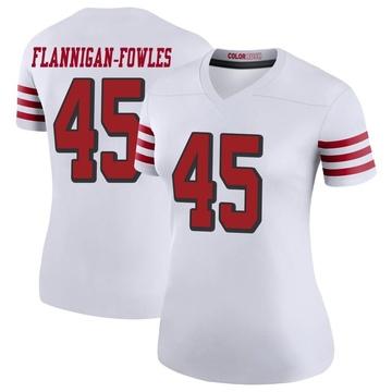 Women's Nike San Francisco 49ers Demetrius Flannigan-Fowles White Color Rush Jersey - Legend