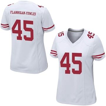 Women's Nike San Francisco 49ers Demetrius Flannigan-Fowles White Jersey - Game