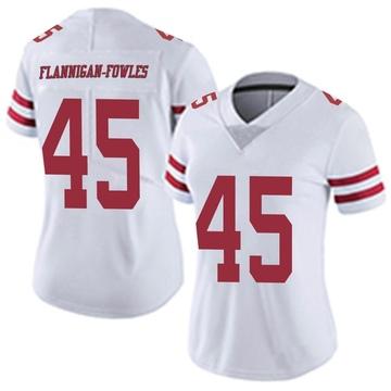 Women's Nike San Francisco 49ers Demetrius Flannigan-Fowles White Vapor Untouchable Jersey - Limited
