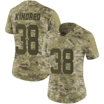 Women's Nike San Francisco 49ers Derrick Kindred Camo 2018 Salute to Service Jersey - Limited