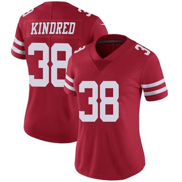 Women's Nike San Francisco 49ers Derrick Kindred Scarlet 100th Vapor Jersey - Limited
