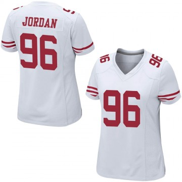 Women's Nike San Francisco 49ers Dion Jordan White Jersey - Game