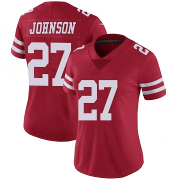 Women's Nike San Francisco 49ers Dontae Johnson Red Team Color Vapor Untouchable Jersey - Limited