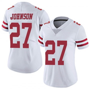 Women's Nike San Francisco 49ers Dontae Johnson White Vapor Untouchable Jersey - Limited