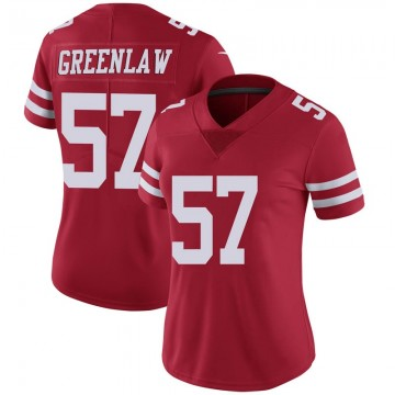 Women's Nike San Francisco 49ers Dre Greenlaw Green Scarlet 100th Vapor Jersey - Limited