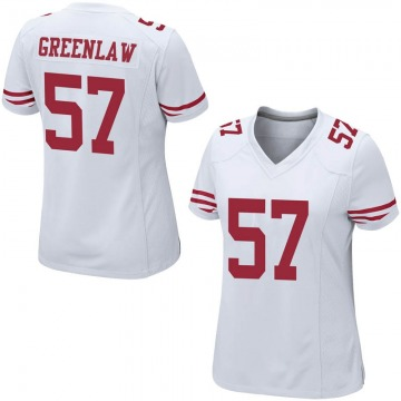 Women's Nike San Francisco 49ers Dre Greenlaw White Jersey - Game