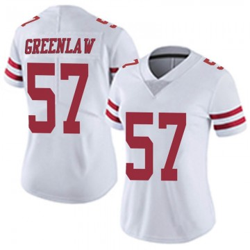 Women's Nike San Francisco 49ers Dre Greenlaw White Vapor Untouchable Jersey - Limited