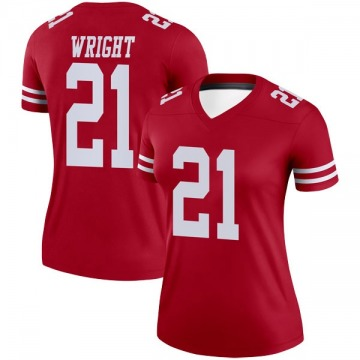 Women's Nike San Francisco 49ers Eric Wright Scarlet Jersey - Legend