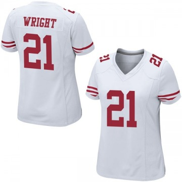 Women's Nike San Francisco 49ers Eric Wright White Jersey - Game