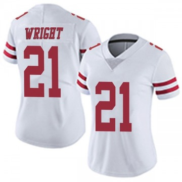 Women's Nike San Francisco 49ers Eric Wright White Vapor Untouchable Jersey - Limited