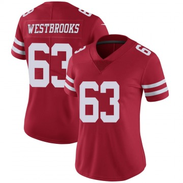 Women's Nike San Francisco 49ers Ethan Westbrooks Scarlet 100th Vapor Jersey - Limited
