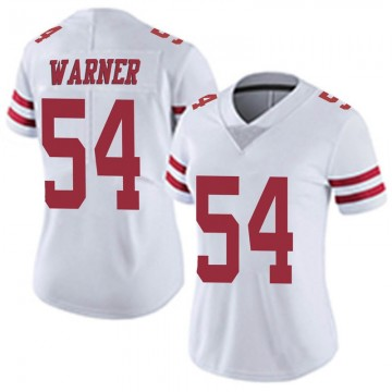 Women's Nike San Francisco 49ers Fred Warner White Vapor Untouchable Jersey - Limited