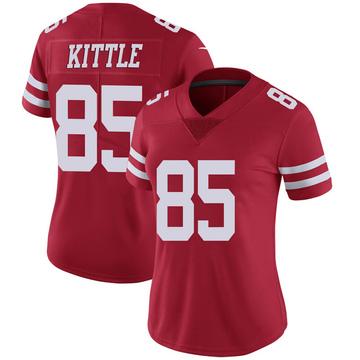 Women's Nike San Francisco 49ers George Kittle Scarlet 100th Vapor Jersey - Limited