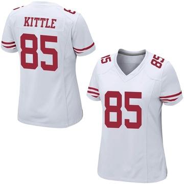 Women's Nike San Francisco 49ers George Kittle White Jersey - Game