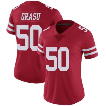 Women's Nike San Francisco 49ers Hroniss Grasu Red Team Color Vapor Untouchable Jersey - Limited
