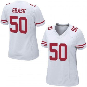 Women's Nike San Francisco 49ers Hroniss Grasu White Jersey - Game