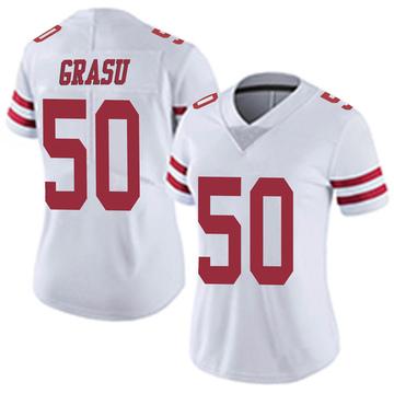 Women's Nike San Francisco 49ers Hroniss Grasu White Vapor Untouchable Jersey - Limited