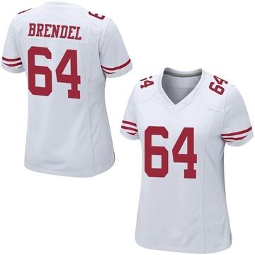 Women's Nike San Francisco 49ers Jake Brendel White Jersey - Game