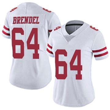 Women's Nike San Francisco 49ers Jake Brendel White Vapor Untouchable Jersey - Limited