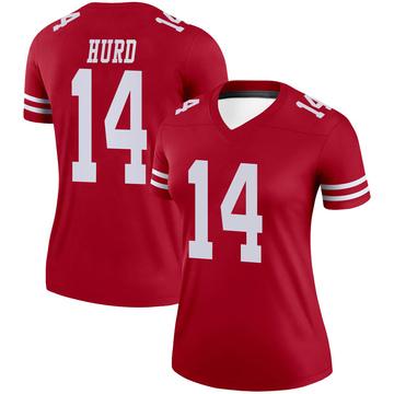 Women's Nike San Francisco 49ers Jalen Hurd Scarlet Jersey - Legend