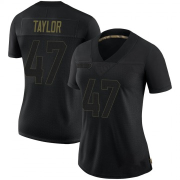 Women's Nike San Francisco 49ers Jamar Taylor Black 2020 Salute To Service Jersey - Limited