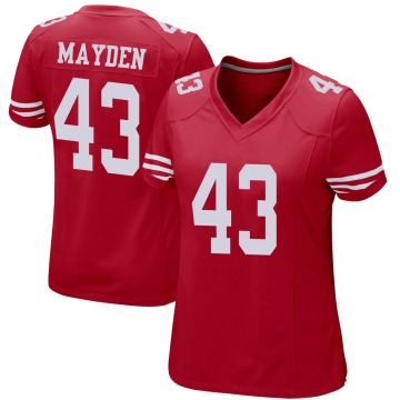 Women's Nike San Francisco 49ers Jared Mayden Red Team Color Jersey - Game