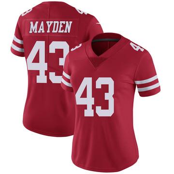 Women's Nike San Francisco 49ers Jared Mayden Scarlet 100th Vapor Jersey - Limited