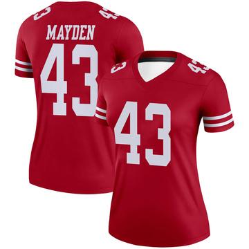 Women's Nike San Francisco 49ers Jared Mayden Scarlet Jersey - Legend