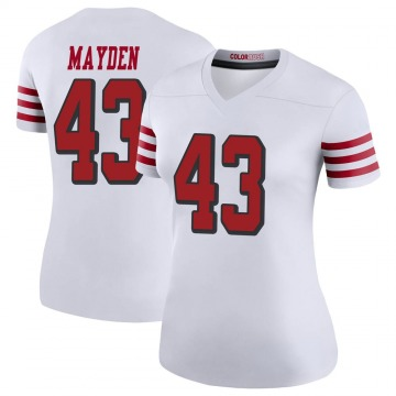 Women's Nike San Francisco 49ers Jared Mayden White Color Rush Jersey - Legend