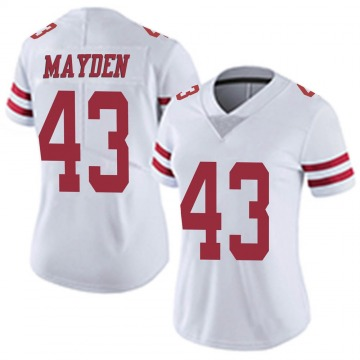 Women's Nike San Francisco 49ers Jared Mayden White Vapor Untouchable Jersey - Limited
