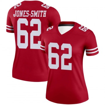 Women's Nike San Francisco 49ers Jaryd Jones-Smith Scarlet Jersey - Legend