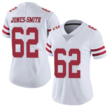 Women's Nike San Francisco 49ers Jaryd Jones-Smith White Vapor Untouchable Jersey - Limited