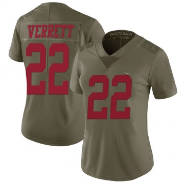Women's Nike San Francisco 49ers Jason Verrett Green 2017 Salute to Service Jersey - Limited