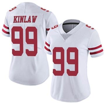 Women's Nike San Francisco 49ers Javon Kinlaw White Vapor Untouchable Jersey - Limited