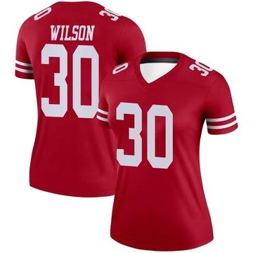 Women's Nike San Francisco 49ers Jeff Wilson Scarlet Jersey - Legend