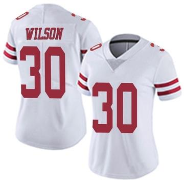 Women's Nike San Francisco 49ers Jeff Wilson White Vapor Untouchable Jersey - Limited