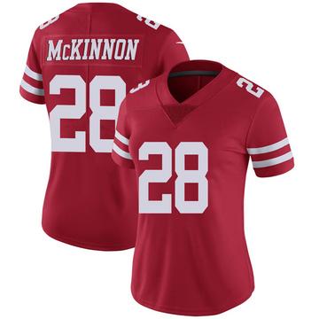 Women's Nike San Francisco 49ers Jerick McKinnon Scarlet 100th Vapor Jersey - Limited